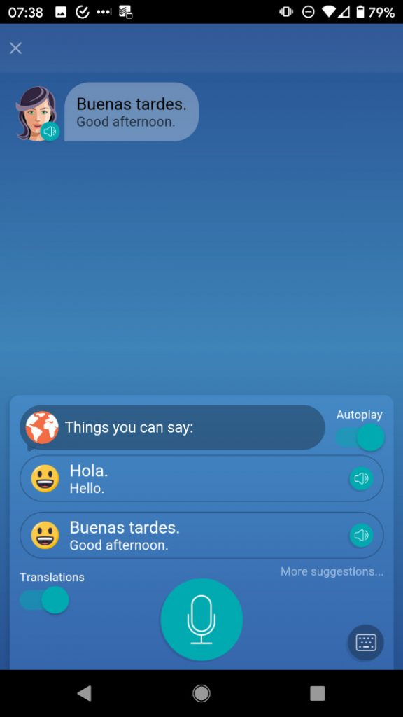 Mondly App Learning Spanish Intro